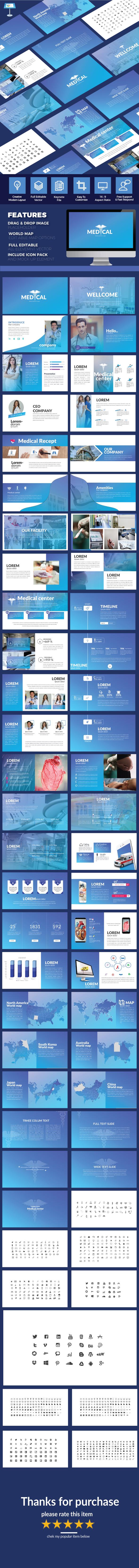 GraphicRiver Medical Keynote Presentation Template 21093568