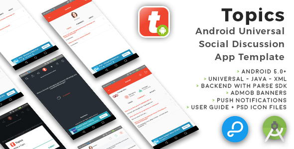 Topics | Android Universal Social Discussion App Template - CodeCanyon Item for Sale