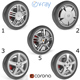 Wheels Collection 1 (5 Models) - 3DOcean Item for Sale