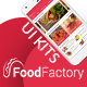 Food Factory - Complete Mobile UI Kits for  Restaurant and Cafe - GraphicRiver Item for Sale