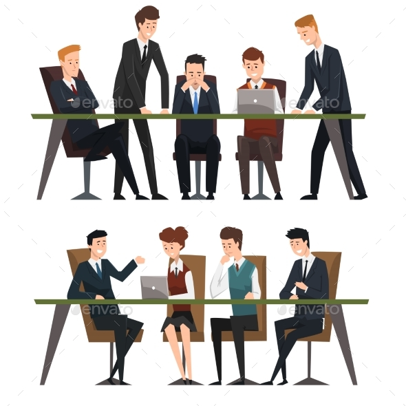 Group Business People Working in Office by Top_Vectors ...
