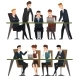 Group Business People Working in Office - GraphicRiver Item for Sale