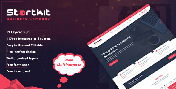 StartKit - Business Multipurpose PSD template - Business Corporate