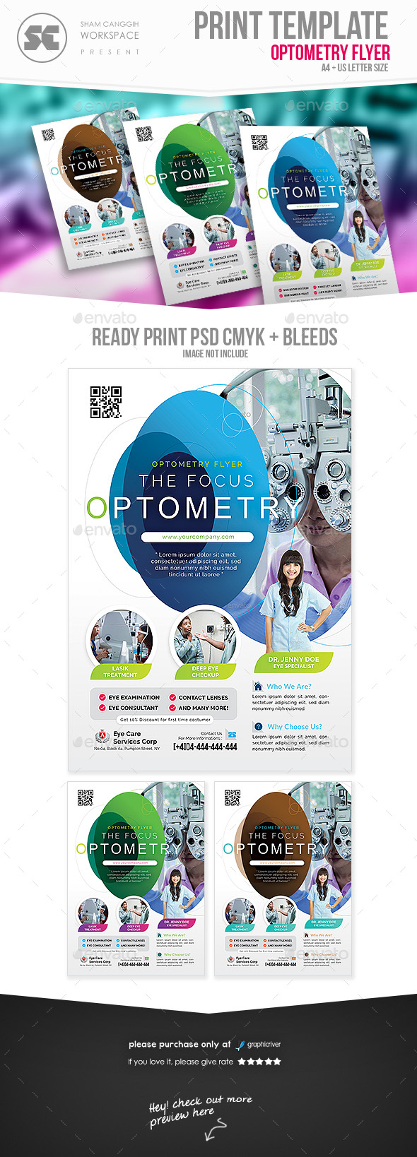 GraphicRiver Optometry Service Flyer 21093836
