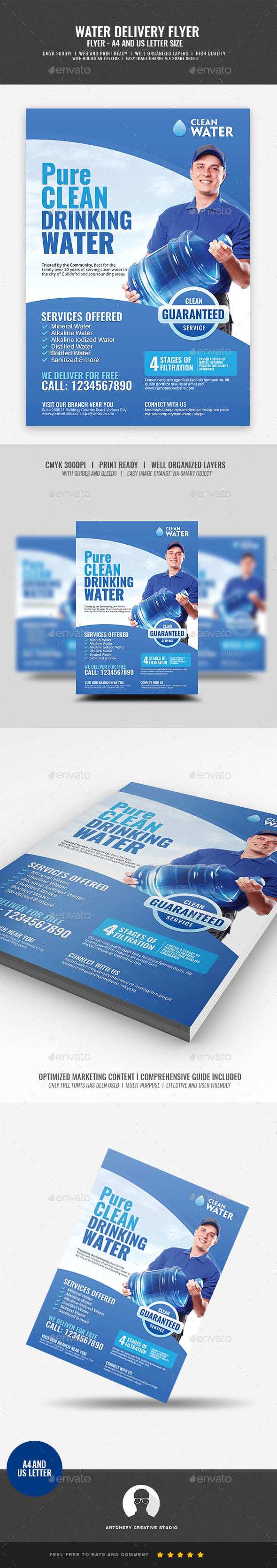 GraphicRiver Water Refiling Station Flyer 21093848