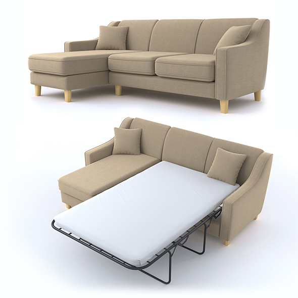 triple corner sofa - 3DOcean Item for Sale