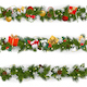Vector Christmas Border Set with Garland - GraphicRiver Item for Sale