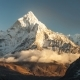 Ama Dablam (6856M) Peak Near the Village of Dingboche in the Khumbu Area of Nepal, on the Hiking - VideoHive Item for Sale