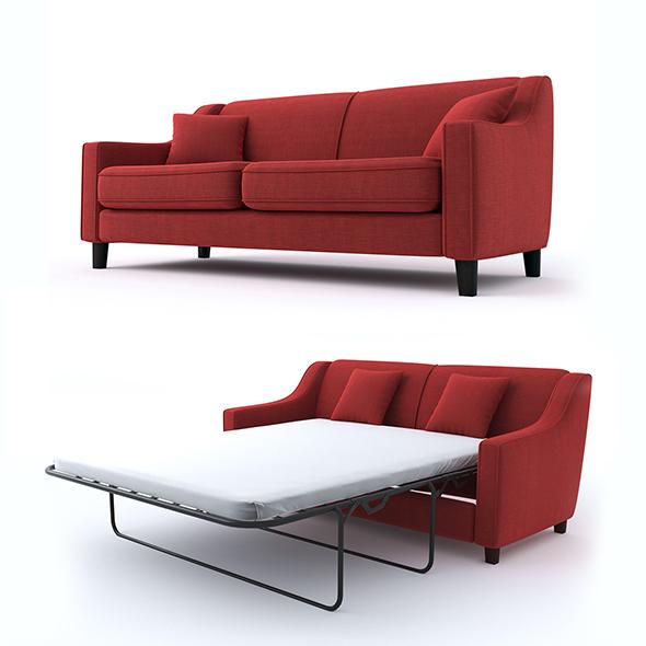 triple sofa - 3DOcean Item for Sale