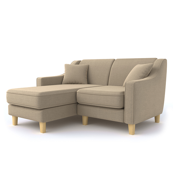 double corner sofa - 3DOcean Item for Sale