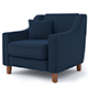 contemporary armchair - 3DOcean Item for Sale
