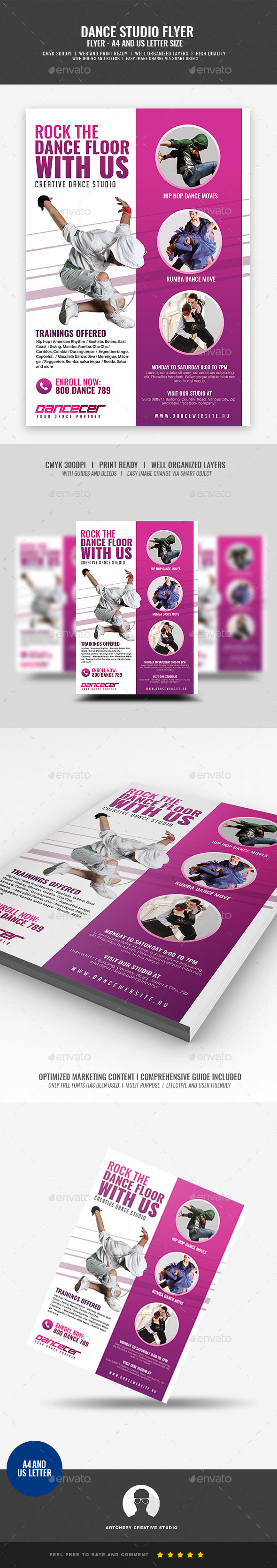 Dance Class Studio Flyer - Corporate Flyers