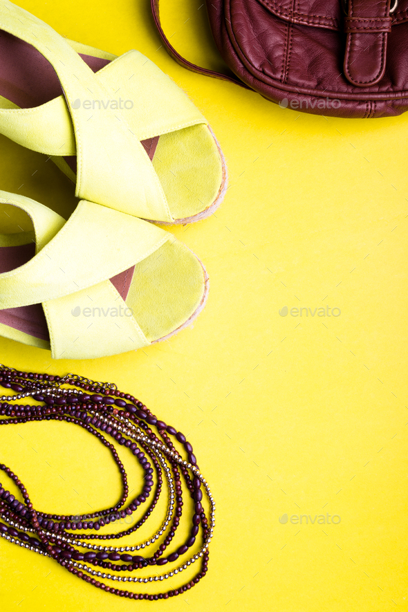 4f4dff7334 Set of Woman s Things Accessories to Summer Season - Stock Photo - Images