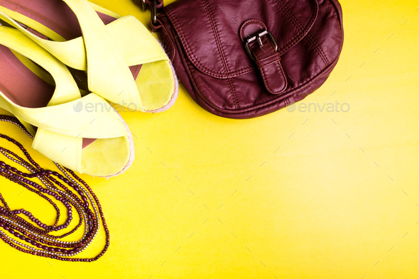 Set of Woman Things Accessories to Summer Season.  - Stock Photo - Images