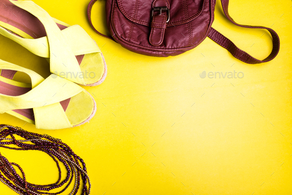 Set of Woman Things Accessories - Stock Photo - Images
