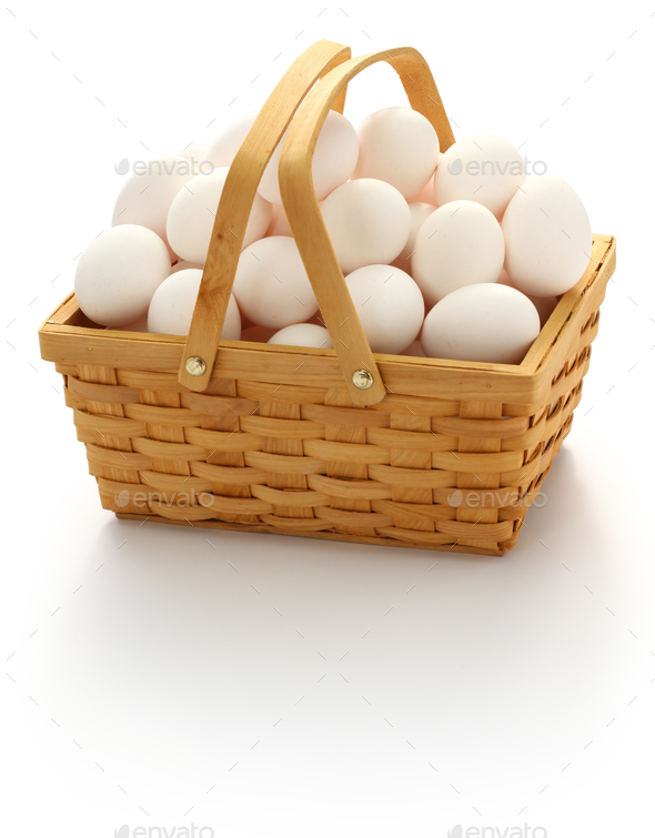 don't put all your eggs in one basket.  - Stock Photo - Images