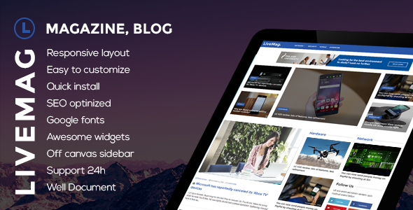 LiveMag - Multipurpose Magazine Theme - Blog / Magazine WordPress