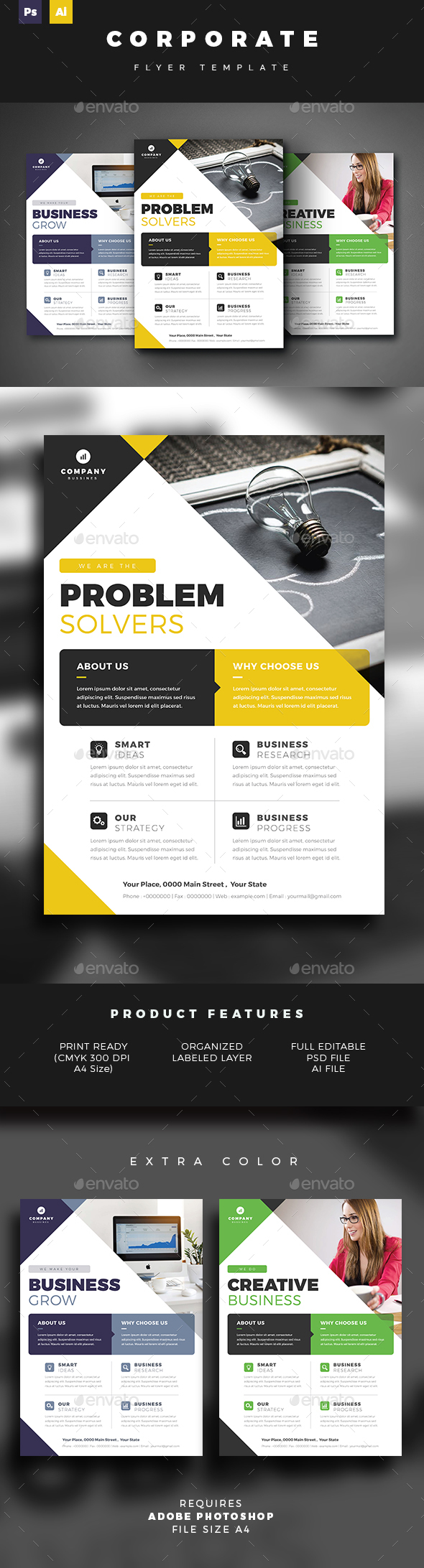 GraphicRiver Corporate Flyer Template 21094171