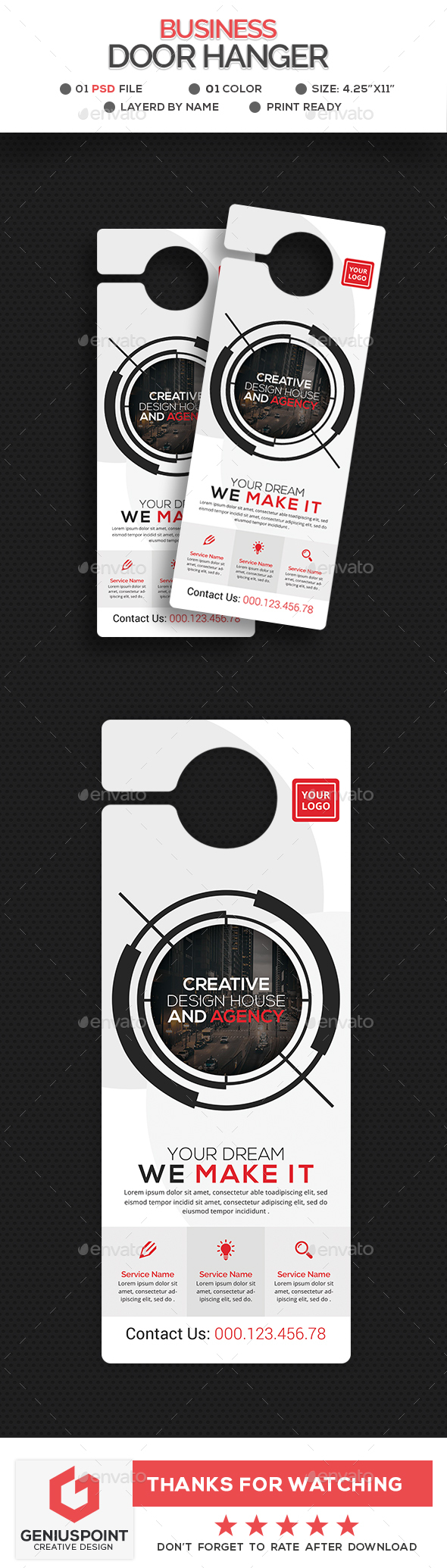 GraphicRiver Business Door Hanger 21094173