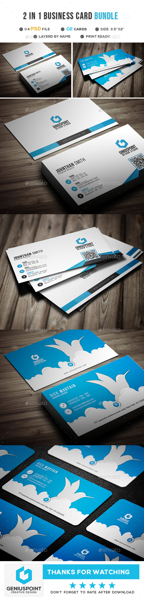 GraphicRiver Corporate Business Card Bundle 21094193