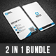 2 in 1 Creative Business Card Bundle