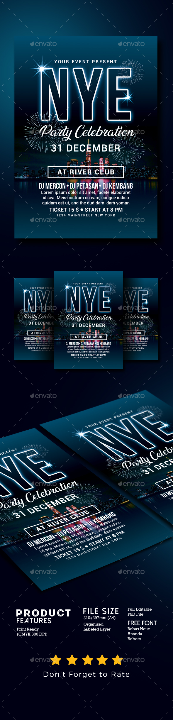 GraphicRiver New Year Party Celebration 21094248
