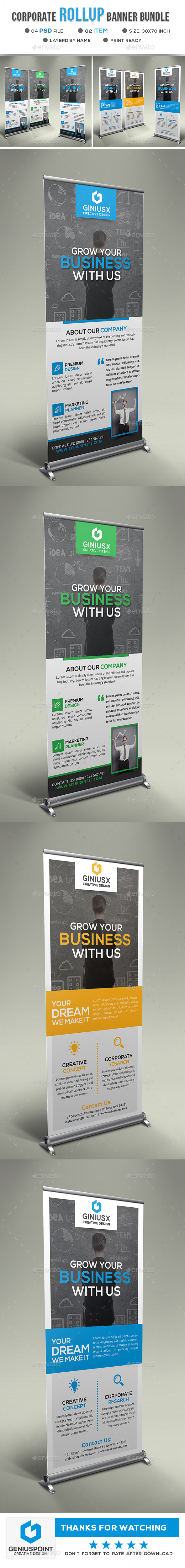 GraphicRiver Corporate Roll Up Banner 21094404