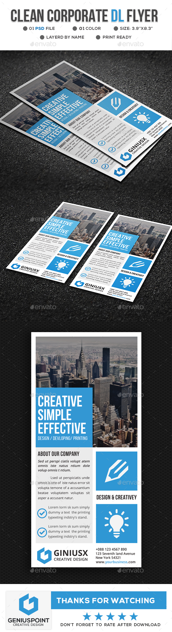 GraphicRiver Corporate DL Flyer Template 21094448