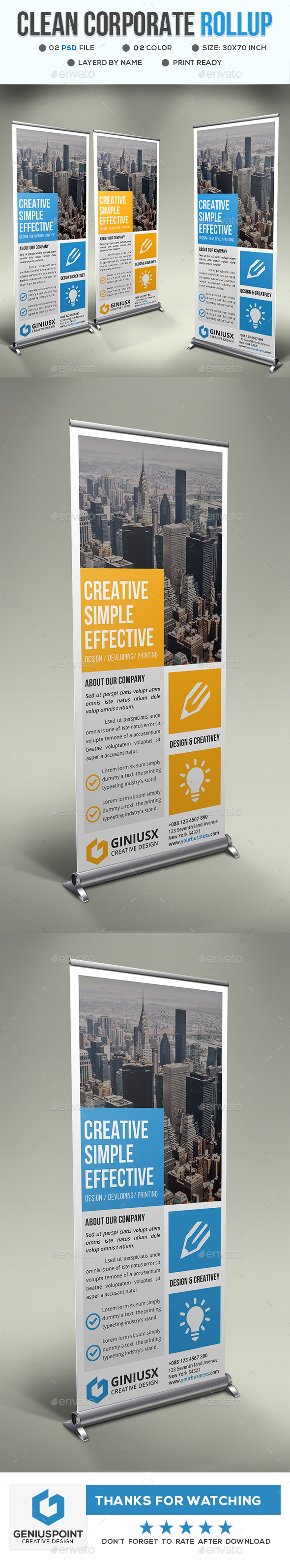 GraphicRiver Corporate Roll-Up Banner 21094460