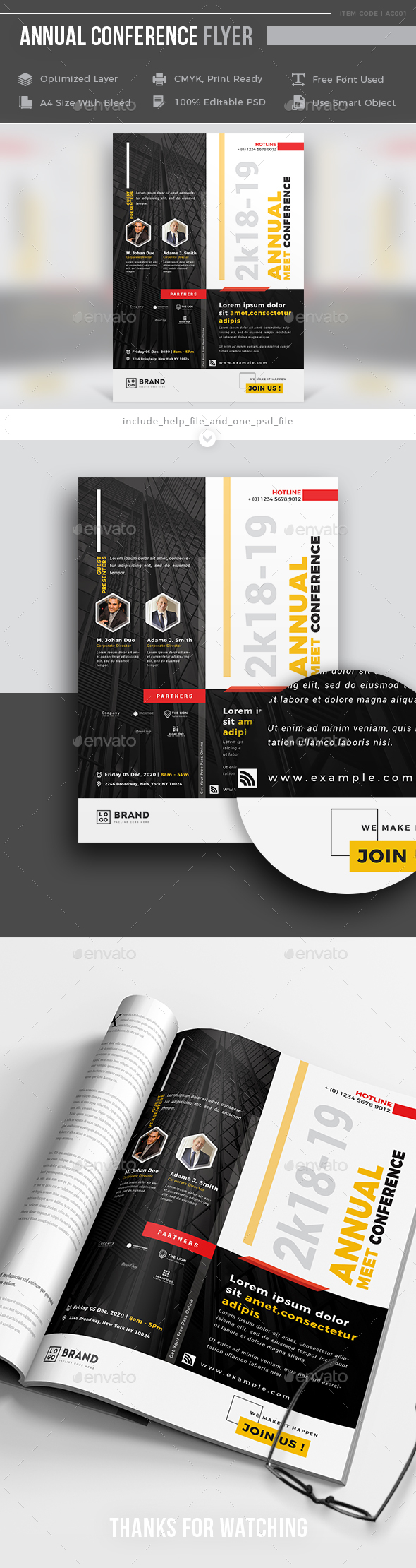 GraphicRiver Annual Conference Flyer 21094465