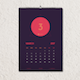 Modern Wall Calendar Template - GraphicRiver Item for Sale