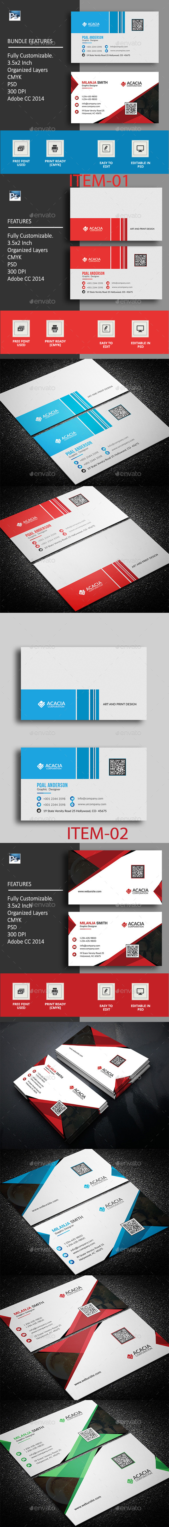 B. Card Bundle_15 (02 items) - Corporate Business Cards