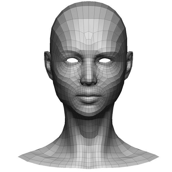 LowPoly Female head - 3DOcean Item for Sale
