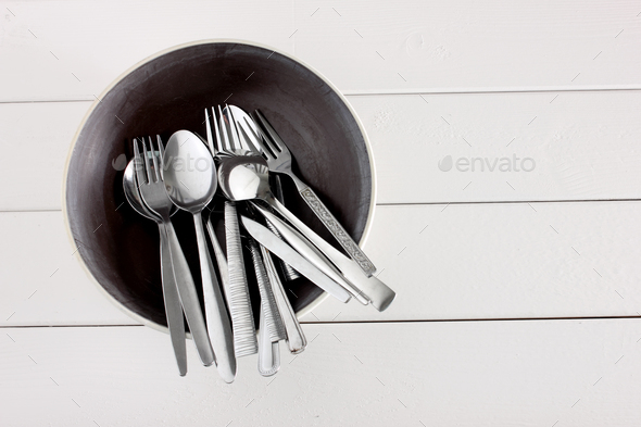 Forks and Spoons - Stock Photo - Images