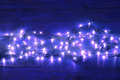 Fairy Lights on Wooden Background - PhotoDune Item for Sale