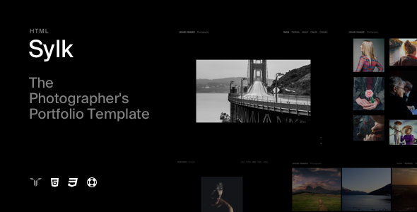 Sylk - Photography Portfolio HTML Template - Photography Creative