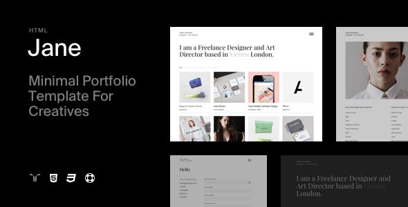 Jane - Responsive HTML5 Portfolio Template - Portfolio Creative