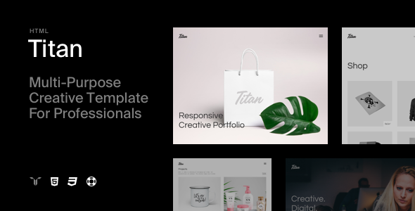 Titan - Creative HTML5 Template - Creative Site Templates