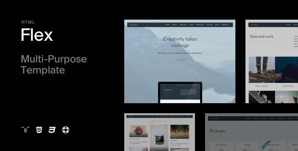 Flex - Multi-purpose HTML Template - Creative Site Templates