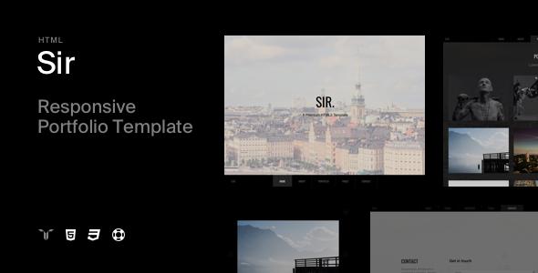 Sir - Responsive HTML5 Portfolio Template - Portfolio Creative
