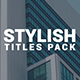 Stylish Titles - VideoHive Item for Sale