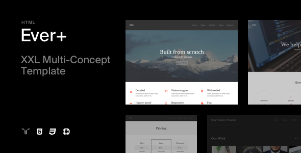 Ever+ | Responsive Multi-purpose HTML Template - Creative Site Templates
