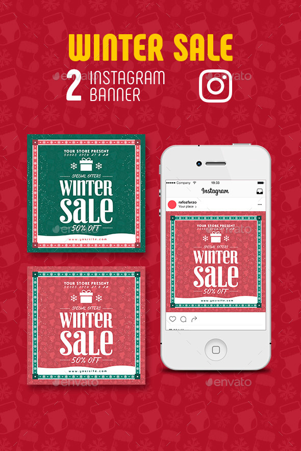 GraphicRiver Winter Sale Instagram Banner 21094989