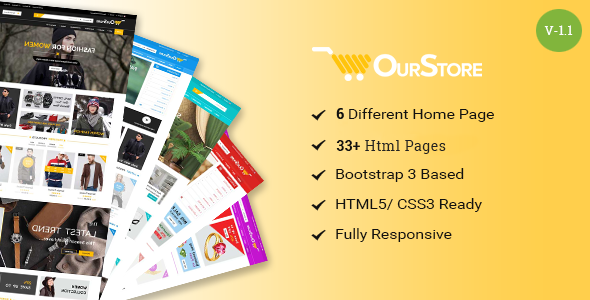 Image of OurStore - Multipurpose eCommerce Bootstrap Template