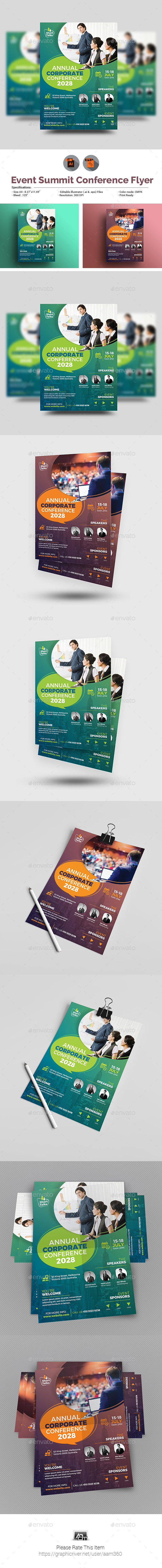 GraphicRiver Annual Corporate Conference Flyer 21094997