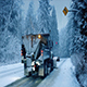 Truck With Snowplow And Cars Drive Past - VideoHive Item for Sale