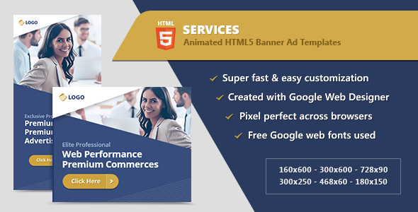 CodeCanyon HTML5 Animated Banner Ads Business Services GWD 21095055