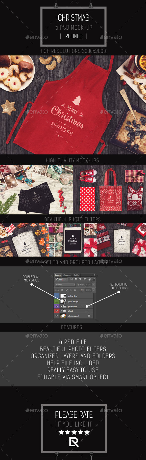 GraphicRiver Christmas Mock-up Pack Vol.3 21095397