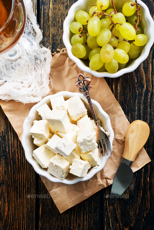 cheese and grape - Stock Photo - Images