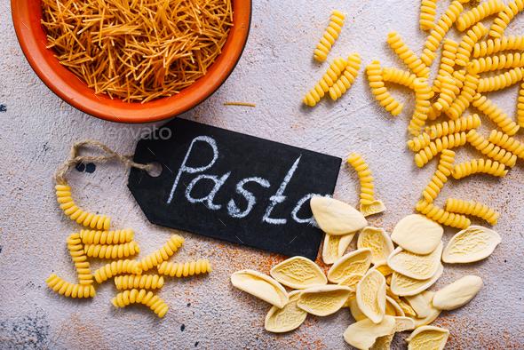 raw pasta - Stock Photo - Images